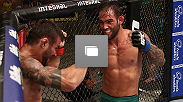 "Octagon photos from the fifth episode of TUF Brazil 3, featuring the fight between Ricardo Abreu aka ""Demente"" and Guilherme Vasconcelos aka ""Bomba."""