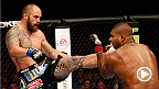 Travis Browne survives an early onslaught from Alistair Overeem before delivering the knockout blow with just under a minute to go in the first round. The win marked Browne's second consecutive KO win in the Octagon.