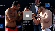 The UFC weigh-in event on April 10, 2014 in Abu Dhabi, United Arab Emirates.
