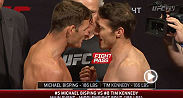 Watch the official weigh-in for TUF Nations Finale: Bisping vs. Kennedy, live Tuesday, April 15th at 9pm BST.