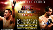 The UFC returns to Germany with a card sure to shake up the middleweight division. Top-15 middleweights Mark Munoz and Gegard Mousasi square off in the main event, and up-and-comers Luke Barnatt and Sean Strickland put their unbeaten streaks on the line.