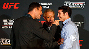Michael Bisping had some words for Tim Kennedy during their faceoff at the UFC's Ultimate Media Day. Watch them duke it out Wednesday, April 16th at the TUF Nations Finale on FOX Sports 1.