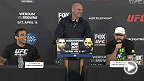 Watch the pre-fight press conference for UFC Fight Night: Werdum vs. Browne, live Thursday, April 17th at 7PM CEST.