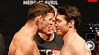 Ultimate Fighter coaches Patrick Cote and Kyle Noke hit the scale while the war of words between rivals Michael Bisping and Tim Kennedy spills over to the weigh-in.