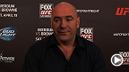 UFC president Dana White meets with the media following the UFC on FOX 11 pre-fight press conference.