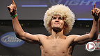 Take a look at the meteoric rise of lightweight Khabib Nurmagomedov, winner of 21 straight fights. The Russian-born fighter tries to continue that success when he battles Rafael dos Anjos this Saturday at UFC on FOX 11.