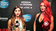 UFC correspondent Megan Olivi catches up with WWE diva and star of Total Divas Eva Marie to talk UFC on FOX 11.