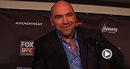 UFc president Dana White meets with the media to discuss all things UFC on FOX 11.