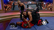 UFC light heavyweight champion Jon Jones joins Live with Kelly and Michael to teach the hosts some mixed martial arts moves. Jones teaches Michael how to throw a superman punch while Kelly shows she needs no tutorial.