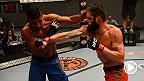 El brasileño Dhiego Lima y Adam Stroup pelean en las eliminatorias de the Ultimate Fighter 19 para conseguir un lugar en la casa.
