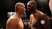 Anthony Johnson hits the scale before his return to the Octagon against fast-rising light heayvweight Phil Davis, and UFC champ Jon Jones peers into the soul of challenger Glover Teixeira at Friday's UFC 172 weigh-in.