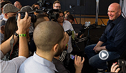 UFC president Dana White sits with the media following the UFC 172 post-fight press conference. White discusses Nate Diaz, possible locations for Jones vs. Gustafsson 2, and Vitor Belfort.