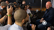 UFC president Dana White meets with the media following Fight Night Cincinnati. Topics include: The Diaz Brothers, Gina Carano possibly being invited to a Ronda Rousey Fight, how this fight puts Matt Brown on the map, and Pat Barry.