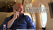 On episode #3 of 7, all roads lead to Las Vegas for UFC 173. Co-main event star Dan Henderson completes media obligations in LA and heads to Sin City, while UFC President Dana White watches fights on the set of TUF Latin America and wins big at the tables