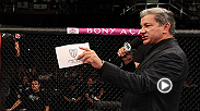 Octagon announcer Bruce Buffer introduces Mr. and Mrs. Bisping at their wedding this past weekend.