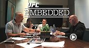On episode #5 of the 7-part fight week series, UFC Embedded, the UFC's biggest stars press their luck. At Zuffa HQ, Dana White takes a call from Nick Diaz, deals with Jon Jones' manager, and gets his long-awaited walking papers.