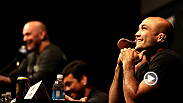 A UFC superfan makes an appearance at the UFC 175 pre-fight press conference and offers up a few words of encouragement to the stars of the card.