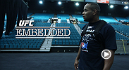 On episode #7 of the 7-part series, UFC Embedded, just a few hours before their co-main event clash, Daniel Cormier and Dan Henderson follow very different routines that will lead them to the same place, inside the Octagon facing each other.