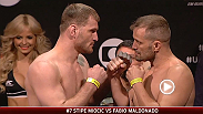 Watch the official weigh-in for UFC Fight Night: Miocic vs. Maldonado, live Friday, May 30 at 7pm BST.