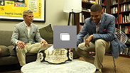 New batanmweight champion TJ Dillashaw meets the mayor of Sacramento, and former NBA star, Kevin Johnson after his upset victory at UFC 173.