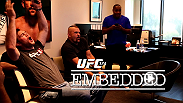 On episode #2 of UFC 174 Embedded, UFC president Dana White celebrates his son's birthday on vacation in Maine before coming back to UFC HQ and UFC stars Forrest Griffin, Chuck Liddell and Daniel Cormier try out the EA SPORTS UFC game.