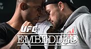 On episode #4 of UFC 174 Embedded, Dana White checks out a new promo - then tries his hand at a new video game. Rory MacDonald faces training partner Georges St-Pierre before media day.