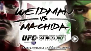 Chris Weidman battles Lyoto Machida for the UFC middleweight title at UFC 175.