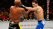 "In one of the biggest upsets in UFC history, Chris Weidman knocked off the legend Anderson Silva when he caught him with an iconic left hook that ended the historic title reign of ""The Spider."" Weidman defends the title against Lyoto Machida at UFC 175."