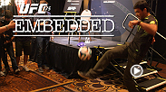 On episode 4, the stars of UFC 175 appear at Ultimate Media Day. Chris Weidman faces a ground and pound onslaught, and challenger Lyoto Machida demonstrates his kicking technique. Alexis Davis receives a visit, while Ronda Rousey cuts weight in luxury.