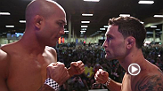Finalists from The Ultimate Fighter 19 and headliners BJ Penn and Frankie Penn weigh-in before capping off International Fight Week with a great event on Sunday.
