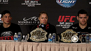 Watch Ronda Rousey, Chris Weidman and other fighters from UFC 175 talk about their performances.