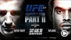 Novísimo campeão peso galo, TJ Dillashaw faz sua primeira defesa contra o ex-soberano Renan Barão no UFC 177. Dillashaw está aí para mostrar que sua primeira apresentação não foi mera sorte, enquanto Barão quer provar que ainda é o melhor na divisão.