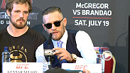 Up-and-coming featherweight Diego Brandao and Conor McGregor continue their war of words at the Fight Night Dublin Media Day. Plus, hear from undefeated welterweight Gunnar Nelson and flyweights Ian McCall and Brad Pickett preview their bouts.