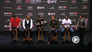Ultimate Fighter winner Eddie Gordon, Hall of Famer Forrest Griffin and other stars from across the UFC answer questions from fans following the Fight Night Dublin weigh-in.