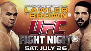 Antes de que UFC aterrice en San Jose el Sábado 26 de julio para una excitante noche, Camino al Octágono los lleva dentro de las vidas y campos de entrenamiento de seis peleadores de élite. Lawler vs Brown, Bermudez vs Guida y Johnson vs Nogueira.