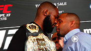 UFC light heavyweight champion Jon Jones and challenger Daniel Cormier speak out after their heated exchange at the UFC 178 media day.