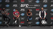 The UFC hosts a Q&A for fans and media with Jon Jones, Daniel Cormier, Conor McGregor, and Dustin Poirier at Club Nokia in Los Angeles, California