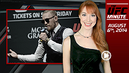 UFC Minute host Lisa Foiles breaks down all the need-to-know news for today, Wednesday, August 6.