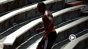 Fight Night Bangor headliner Ovince Saint Preux returns to his old stomping grounds at University of Tennessee to get a workout in and look back at the time he spend on the gridiron.