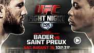 UFC commentator Joe Rogan takes a lot at this week's matchup between top 10 light heavyweights Ryan Bader and Ovince Saint Preux. Don't miss any of the action when these heavy-handed fighters take the Octagon on Saturday on FOX Sports 1.