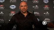 UFC president Dana White meets with the media following Fight Night Bangor.