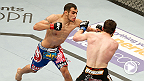 Tony Ferguson uses his lethal d'arce choke technique against opponent Mike Rio at UFC 166. See Ferguson battle Danny Castillo in the co-main event at UFC 177 in Sacramento, California.