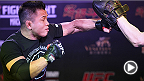 UFC correspondent Megan Olivi checks in from the Fight Night Macao open workout, where headliners Michael Bisping and Cung le, and top welterweights Dong Hyun Kim and Tyron Woodley put on a workout for fans and media.