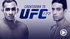 UFC Countdown vous emmène dans les coulisses de l'UFC 177 à Sacramento.  Le Californien Danny Castillo affrontera le vainqueur de la série The Ultimate Fighter, Tony Ferguson, lors d'une guerre entre deux poids légers au sommet de leur art.