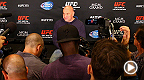 UFC president Dana White answers questions from the media after Fight Night Macao.