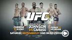 Le champion poids mouche de l'UFC, Demetrious Johnson, affrontera Chris Cariaso pour le titre, Donald Cerrone accueillera Eddie Alvarez dans l'Octogone et l'étoile montante Conor McGregor se mesurera à son rival, Dustin Poirier.