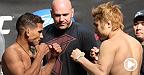 """""""The Fireball Kid"""" Takanori Gomi a ébranlé Tyson Griffin d'une droite pour ainsi remporter une victoire par KO dans l'Octogone.  Voyez Gomi se mesurer à Myles Jury en combat co-principal de l'événement UFC Fight Night Japan."""