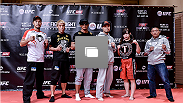 UFC Fight Night open workout for media at the Hilton Tokyo on September 16, 2014 in Tokyo, Japan.  (Photo by Keith Tsuji/Zuffa LLC/Zuffa LLC via Getty Images)