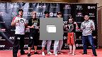 2014年9月16日に東京のヒルトンホテルでメディア向けに行われたUFC Japan 2014大会の公開練習の模様。(Photo by Keith Tsuji/Zuffa LLC/Zuffa LLC via Getty Images)