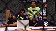 Emily Kagan and the coaches from Team Melendez watch film from some Joanne Calderwoods previous fights before they face off Wednesday night on an all-new episode of The Ultimate Fighter.